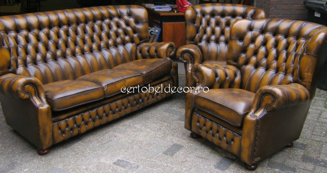 Name Used Sofa Set Chesterfield