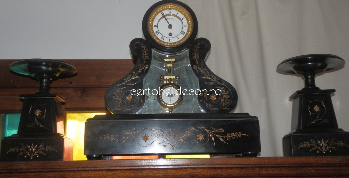 used antique mantel timepiece J. Dusart | Certobeldecor