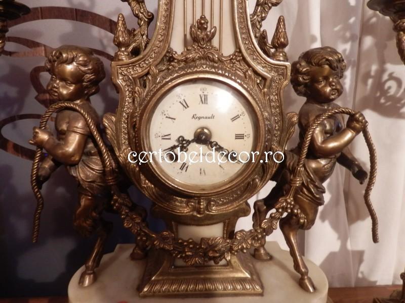 Used Antique Clock Set Regnault Certobeldecor
